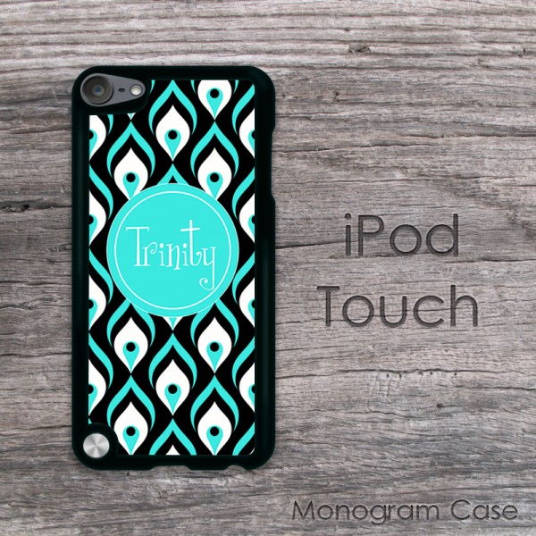 Peacock inspired design personalized iPod touch cover case