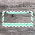 Chevron charcoal mint car frame