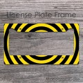 Black yellow striped bee car frame