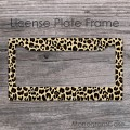 Cheetah animal print design customized car frame