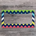 Multi colorful zig-zag pattern personalized car frame