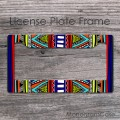 Navaho pattern colorful personalized license frame