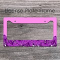 Purple flowers design personalized car frame