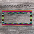 Southwestern design print customized car frame