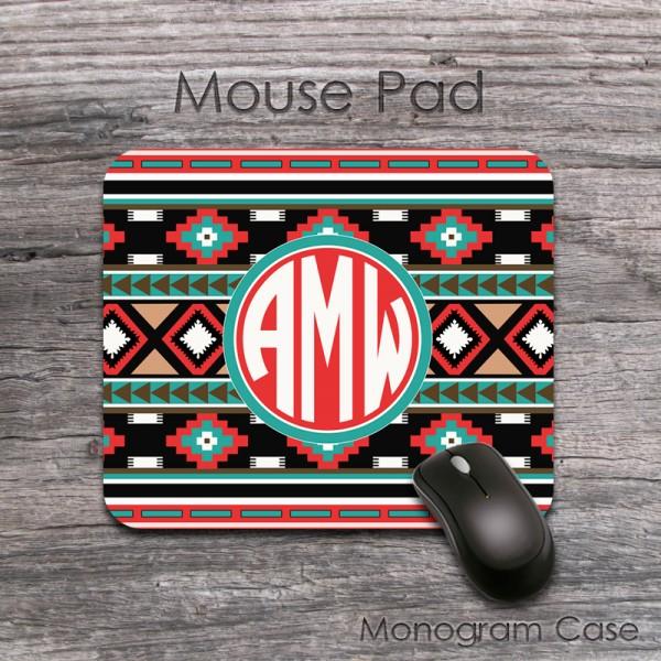 Old Indian aztec design computer mousepad