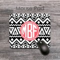 Black white tribal aztec design customized mousepad