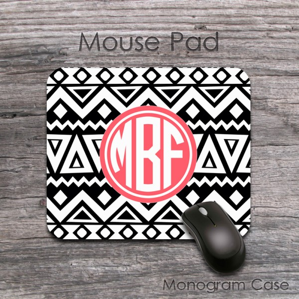 black white tribal customized mouse pad monogramcase