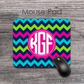 Mixed colour chevron monogrammed mouse pad