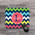 Cute colorful chevron mouse pad custom design