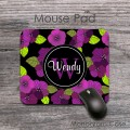 Dusty purple lime flowers beautiful pattern mousepad