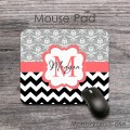 Fancy mouse pad with name and lettering design