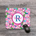 Mouse pad floral background with name or monogram