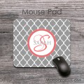 Quatrefoil gray color office mouse pad