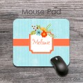 Vintage flowers grunge blue style desirable mousepad