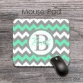 Mint grey fresh chevron desk pad