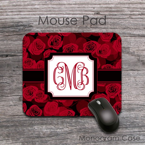 Red roses beautiful vintage style computer mouse pad
