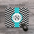 Stylish black white chevron turquoise vertical moroccan pad