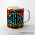 aztec southwestern pattern monogrammed cup