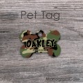 Classic camouflage print for pet tag