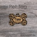 Cheetah animal print cats or dogs tag