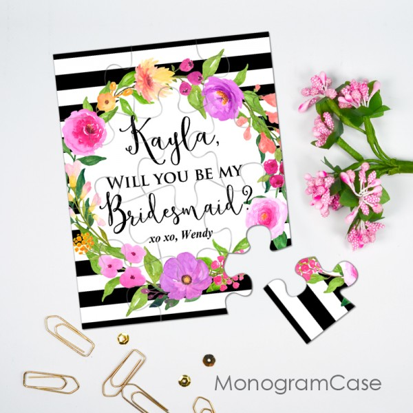 Custom puzzle gift  - Will you be my bridesmaid?