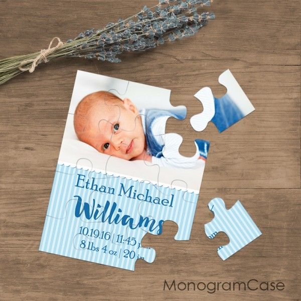 Announcing photo baby boy puzzle