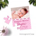 Sweet baby girl announcement photo puzzle cart