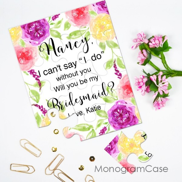 """I can't say i do without you""  -  Be my bridesmaid puzzle invitation ?"