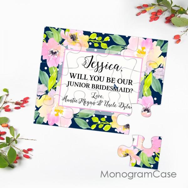 Custom will you be my junior bridesmaid puzzle