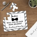 Ring bearer gift puzzle invitation asking wedding proposal