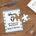 Suit up - Will you be our groomsmen, ring bearer puzzle invitation