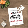 Tandem bike |Our first Christmas wedding puzzle