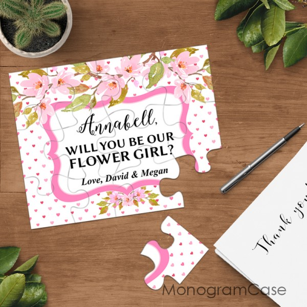 Will you be my Flower girl proposal on puzzle