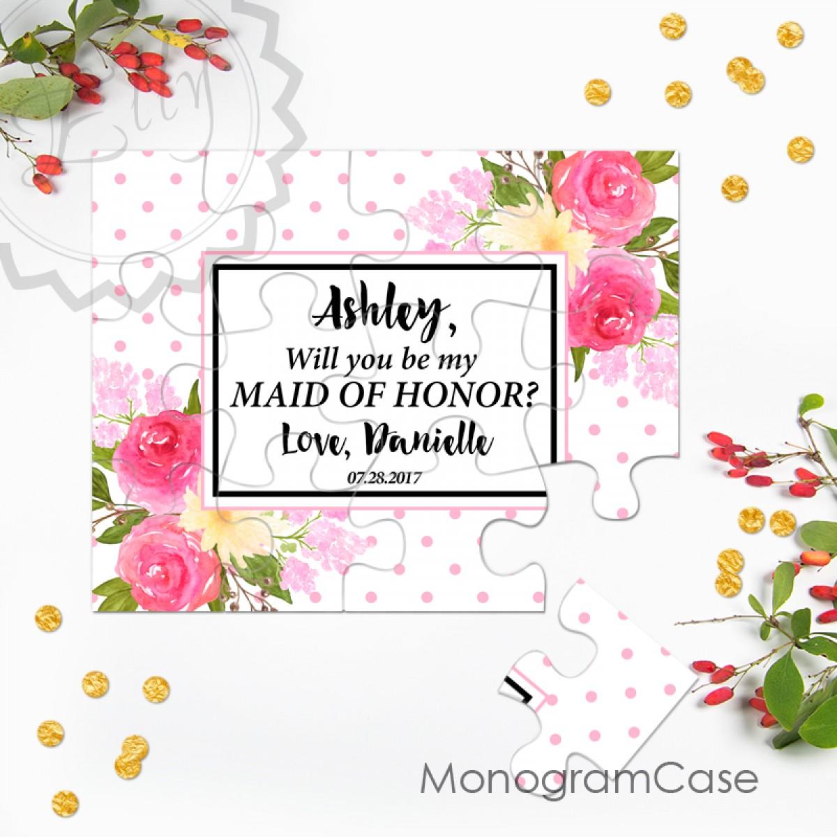 Custom - Will you be my bridesmaid puzzle invitation