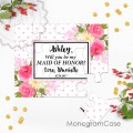 Will you be my bridesmaid peoney puzzle invitation