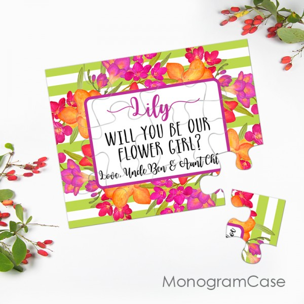 Will you be my  Flower girl, bridesmaid puzzle cards