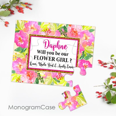 Will you be my flower girl - Puzzle gift |  MonogramCase