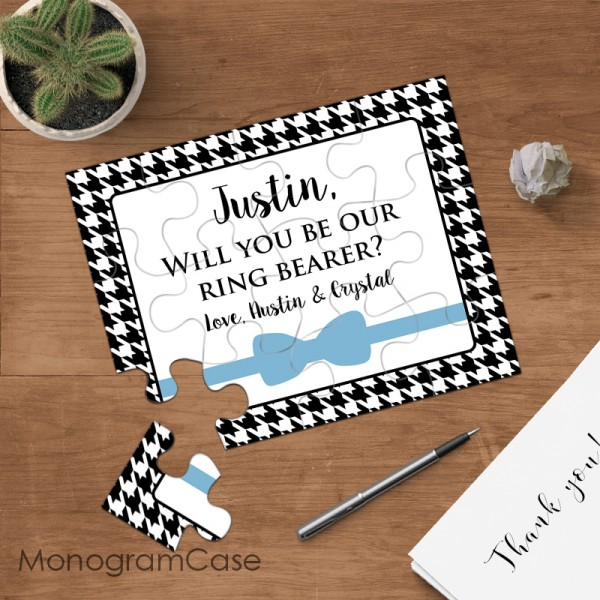 Will you be our ring bearer puzzle card