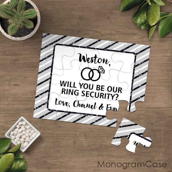Will you be our ring security puzzle wedding proposal