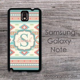 Aztec tribal multicolor pattern personalozed Samsung case