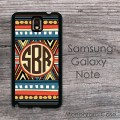 Boho aztec colorful indian pattern monogramed case