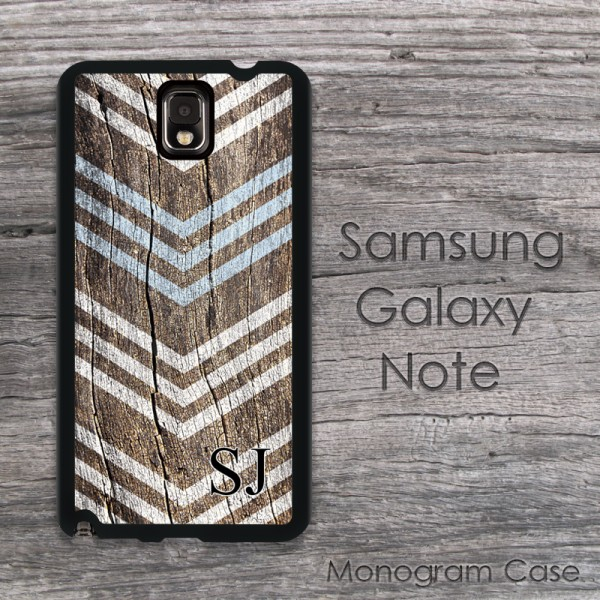 Arrow chevron on wood design customized Samsung cover