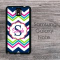 Ikat chevron mixedcolors flower label customized Galaxy case