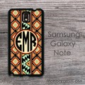 Tribal drawing ornamental multicolor aztec pattern Galaxy case