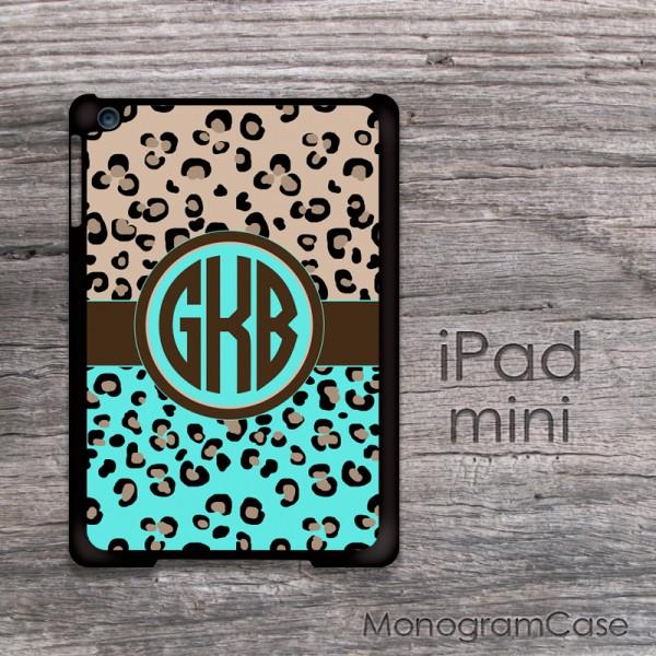 cheetah print animal design monogram ipad mini
