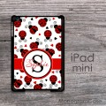 Cute ladybugs print customized iPad mini cover
