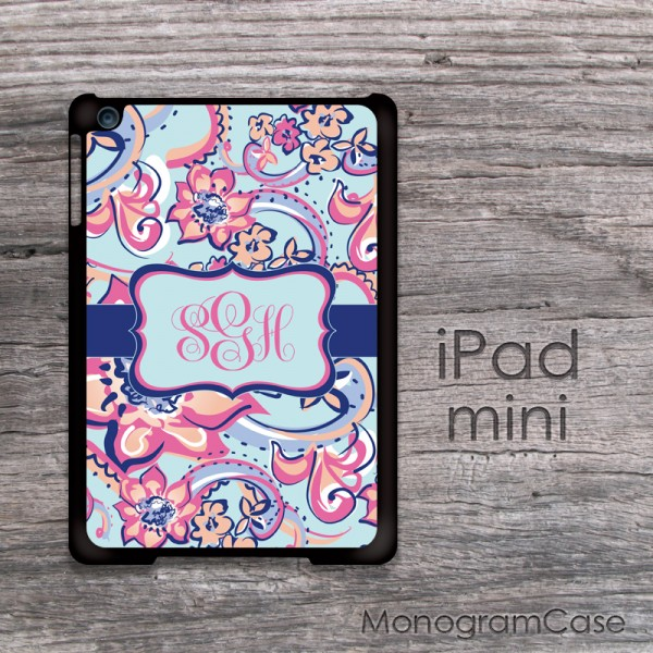 Handpainted abstract flowers design personalized iPad mini