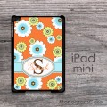 Sunny flowers orange design iPad mini case
