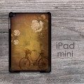 Vintage bike roses design iPad mini cover case