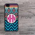 Ethnic teal black hotpink design iPhone hard case